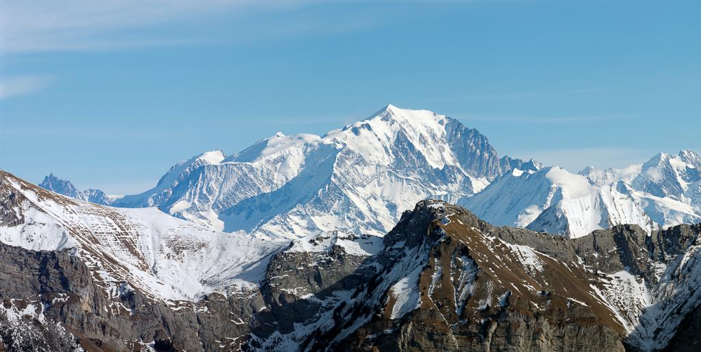 Le Mont-Blanc vu depuis le Semnoz